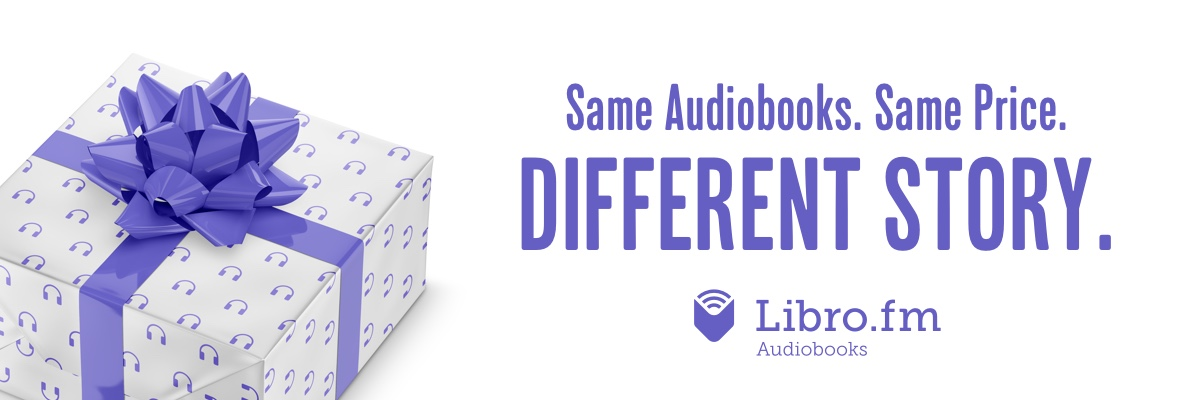 "A picture of a wrapped gift next to the text ""Same Audiobooks. Same Price. DIFFERENT STORY."""