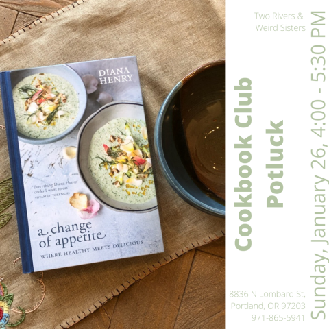Cookbook Club Potluck, Sunday January 26, 4:00 - 5:30 PM